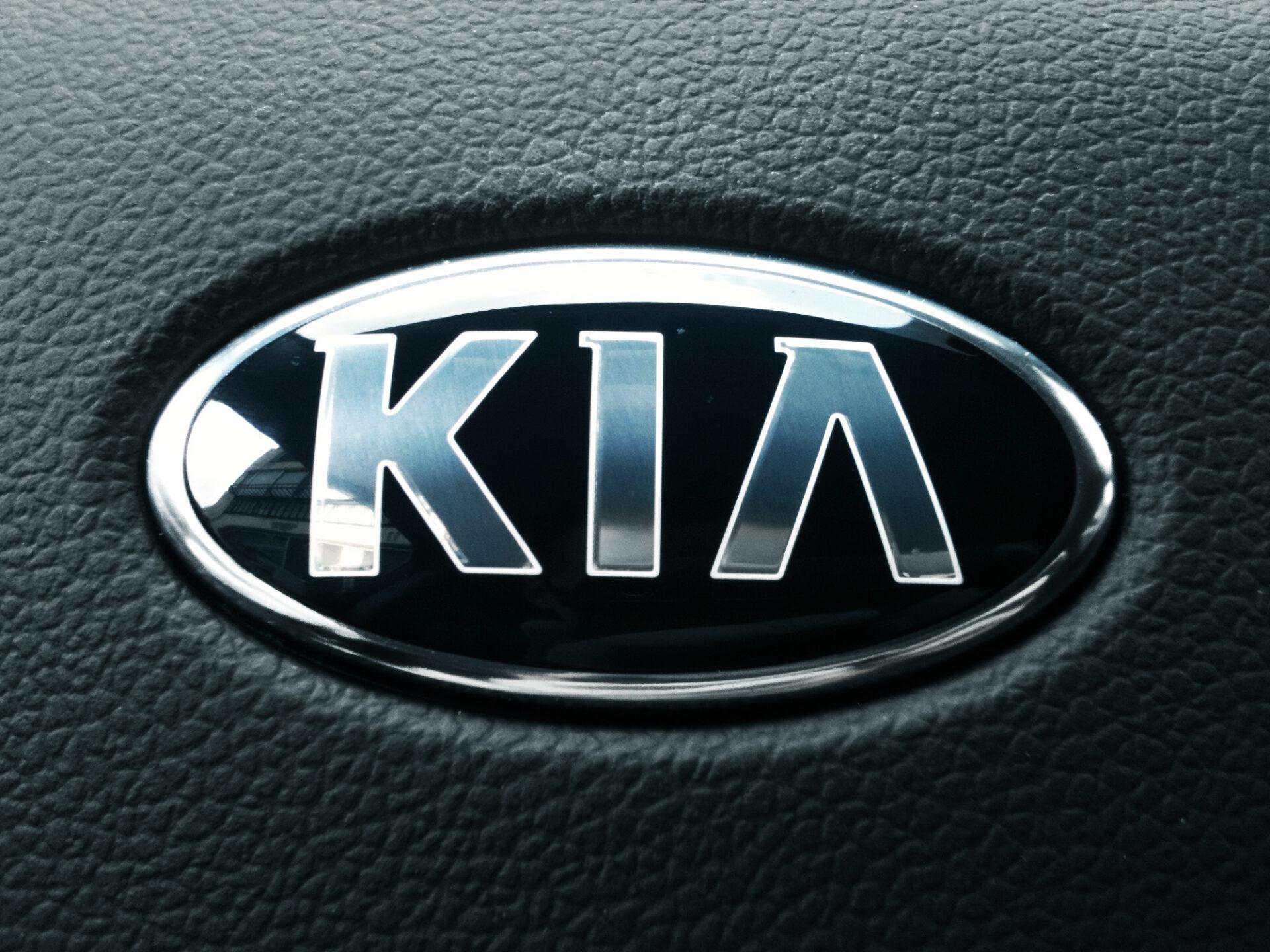 Kia pride emblem steeringwheel