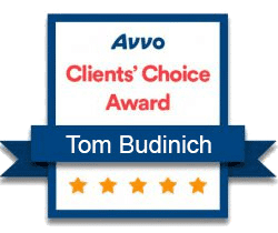 Tom Budinich Avvo Clients' Choice Award